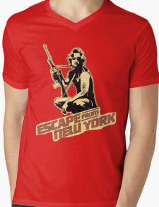 Snake Plissken (Escape from New York) Vintage Mens V-Neck T-Shirt