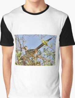 Roadrunner In The Desert Willow Tree Graphic T-Shirt