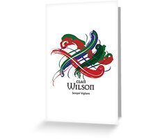 Clan Wilson - Prefer your gift on Black/White tell us at info@tangledtartan.com  Greeting Card