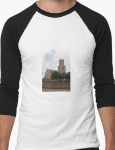 St Mary the Virgin and All Saints Church, Fotheringhay Men's Baseball ¾ T-Shirt