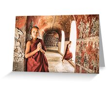 Monk Musings - Nyaung Shwe, Myanmar Greeting Card