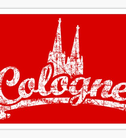 Cologne Classic Vintage Rot/Weiß Sticker