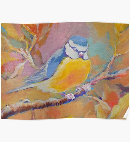Little Bird Sitting In A Tree Poster