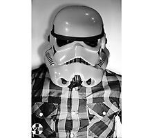 Star wars storm trooper flannel Photographic Print