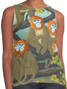 Monkeys Contrast Tank
