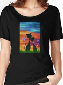 Cats & Dreams Women's Relaxed Fit T-Shirt