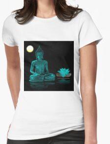Buddha Yoga Zen Womens Fitted T-Shirt