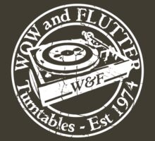 Wow & Flutter Turntables T-Shirt - Worn Well by Ra12