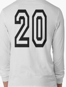 20, TEAM SPORTS, NUMBER 20, TWENTY, TWENTIETH, Competition,  Long Sleeve T-Shirt