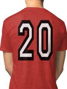 20, TEAM SPORTS, NUMBER 20, TWENTY, TWENTIETH, Competition,  Tri-blend T-Shirt