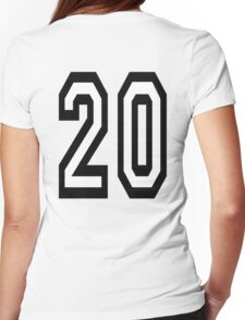 20, TEAM SPORTS, NUMBER 20, TWENTY, TWENTIETH, Competition,  Womens Fitted T-Shirt