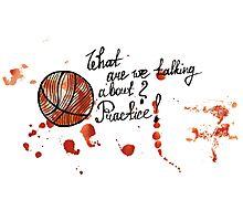 Basketball ball watercolor acrylic drawing Photographic Print