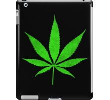 Green Cannabis Weed Leaf iPad Case/Skin