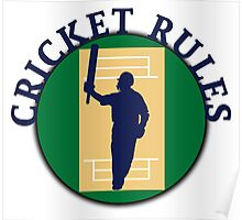 Cricket Rules Poster