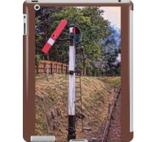 Signal on the North Norfolk Railway iPad Case/Skin