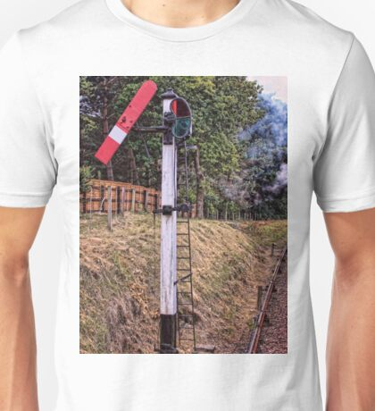 Signal on the North Norfolk Railway Unisex T-Shirt