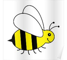 Cute Little Bumble Bee Poster
