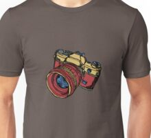 Classic 35mm SLR Camera in Fall Colors Unisex T-Shirt