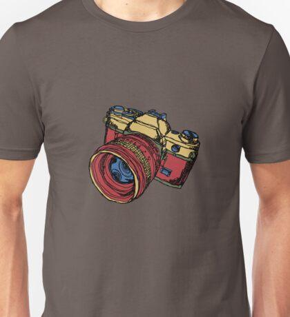 Classic 35mm SLR Camera in Fall Colors Unisex T-Shirt