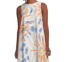 Watercolor Abstract A-Line Dress