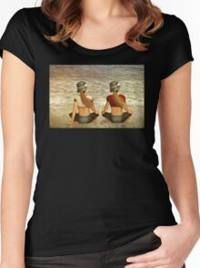 Sisters  Women's Fitted Scoop T-Shirt