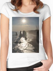 Sunset, Apostles Women's Fitted Scoop T-Shirt