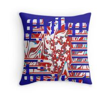 Colorful Abstract 4th of July Throw Pillow