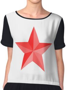 RED STAR, Red Star sectioned Chiffon Top