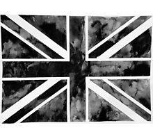 Black Paint Union Jack  Photographic Print