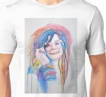 Janis Joplin in watercolor painting Unisex T-Shirt