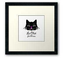 French Cat Says Meow  Framed Print