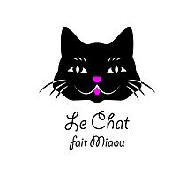 French Cat Says Meow  Photographic Print