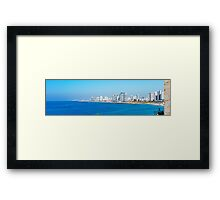 Israel, Tel Aviv coastline as seen from south from Old Jaffa Framed Print