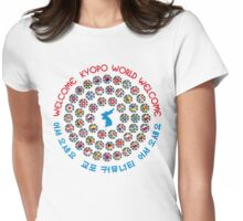 Kyopo World: Welcome: We Are Korea Womens Fitted T-Shirt
