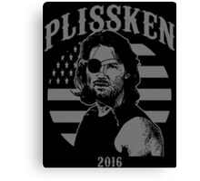 Plissken For President 2016 Canvas Print
