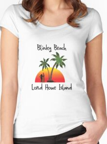 Blinky Beach Lord Howe Island Women's Fitted Scoop T-Shirt