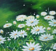 White Daises by Ira Mitchell-Kirk