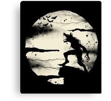 Werewolf With The Full Moon Canvas Print