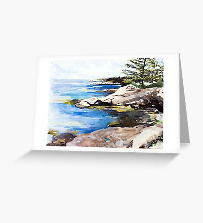 island coastline 4 Greeting Card