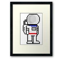 Pixel astronaut Framed Print