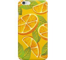 Orange background iPhone Case/Skin