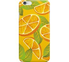 Orange background iPhone Case/Skin