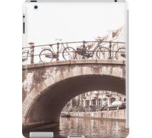 Amsterdam bikes on bridge iPad Case/Skin