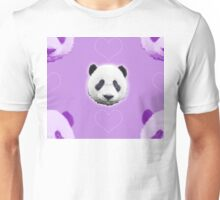 Purple Panda Power Unisex T-Shirt