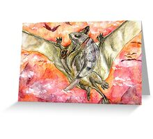 Victorious Pterosaur Greeting Card