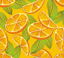 Orange background by maystra