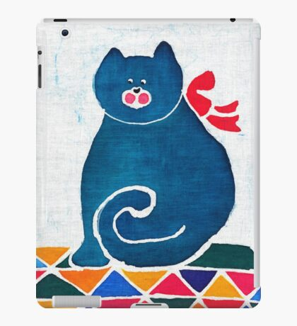 Cat with a red bow iPad Case/Skin