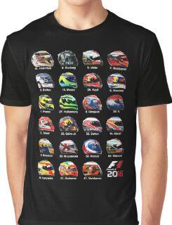 Formula 1 2016 drivers helmets all Graphic T-Shirt