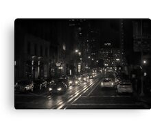 San Francisco Night I Toned Canvas Print