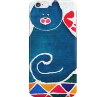 Cat with a red bow iPhone Case/Skin